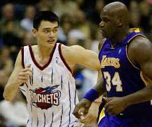 NBA全明星首发揭晓 姚明挤掉奥尼尔挂印西部