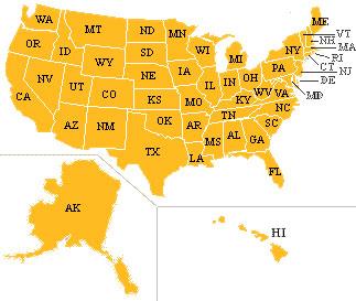 美国地图; 美国地图;;