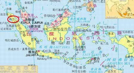 (地图上红圈标识为空难发生地点.舰船知识网络版)