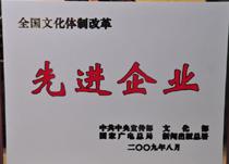 文化体制改革2009年先进企业