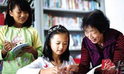 Retired teachers help left-behind children