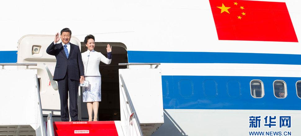 习近平抵达西雅图开始对美国进行国事访问