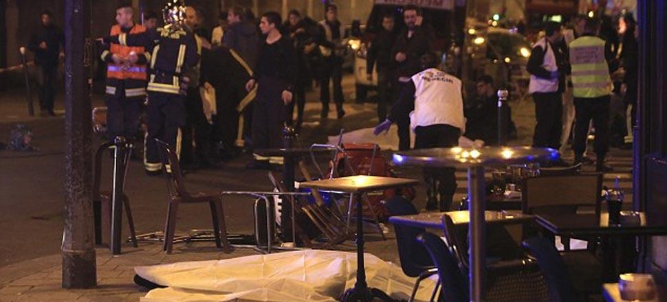 巴黎恐袭现场:60死、近100人被劫持