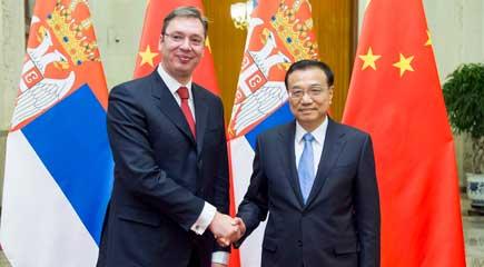 李克强同塞尔维亚总理武契奇举行会谈
