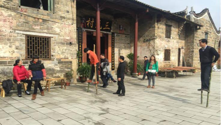 记录资兴市三元村居民过年过程