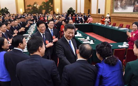 [视频]习近平参加湖南代表团审议