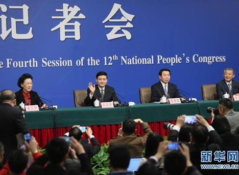 """国资委主任肖亚庆等就""""国企改革""""答记者问"""