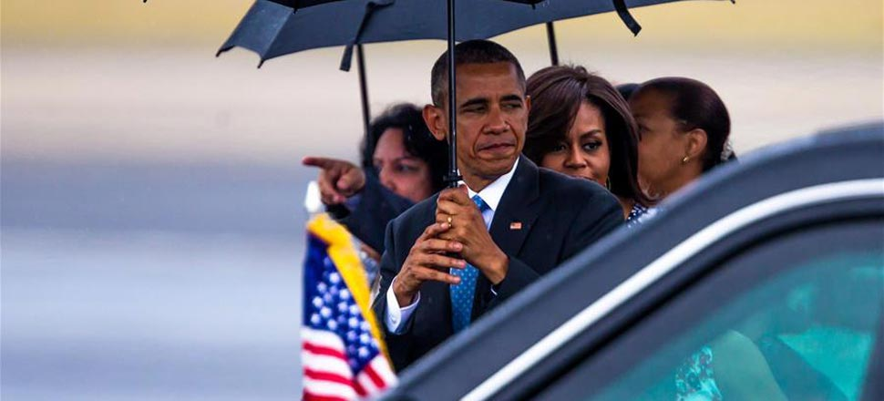 美国总统奥巴马抵达古巴开始访问