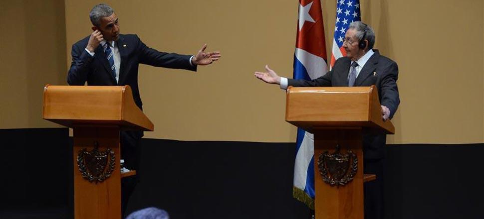 劳尔·卡斯特罗会见奥巴马 呼吁美取消封锁