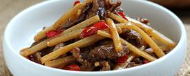 开胃解腻 味道酸爽又嫩美的酸笋炒牛肉