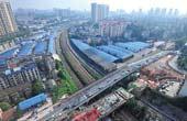 长沙劳动路跨京广铁路老桥开始拆除