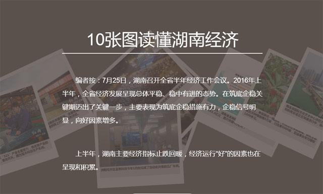 10张图读懂湖南经济