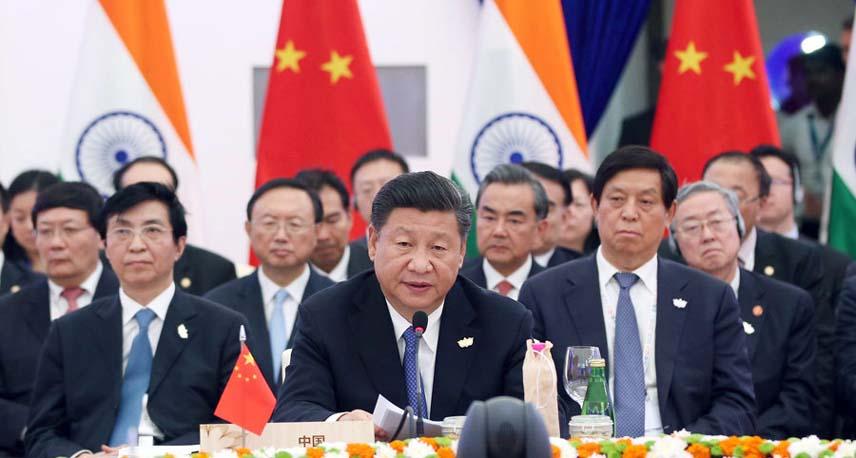 习近平出席金砖国家领导人第八次会晤
