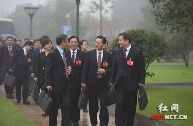 组图:湖南省第十一次党代会开幕 镜头记录开幕会全程