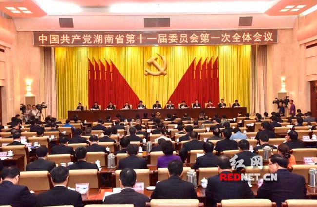 十一届省委举行第一次全会 杜家毫提出六点要求