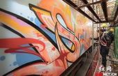 20名涂鸦大师添彩加色 长沙磁浮列车9日起换新颜