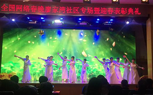 全国社区网络春晚走进廖家湾社区 30名志愿者获表彰