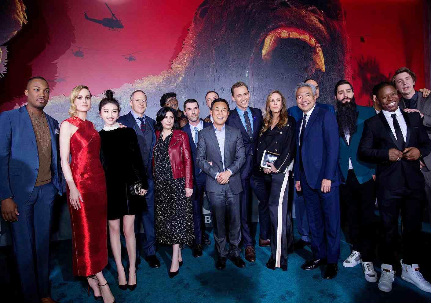 《金刚:骷髅岛》洛杉矶首映 抖森景甜齐亮相