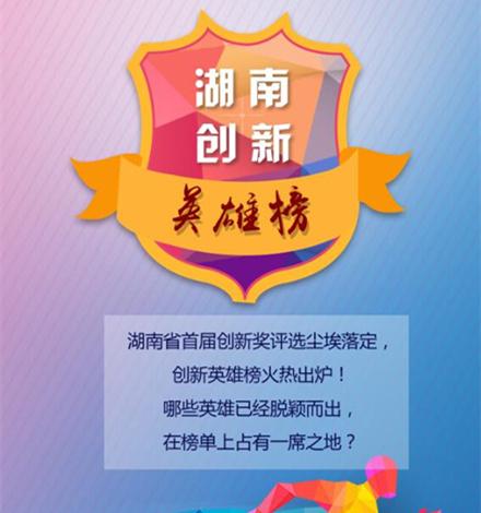 这个榜单,汇集了湖南最顶尖地创新英雄!