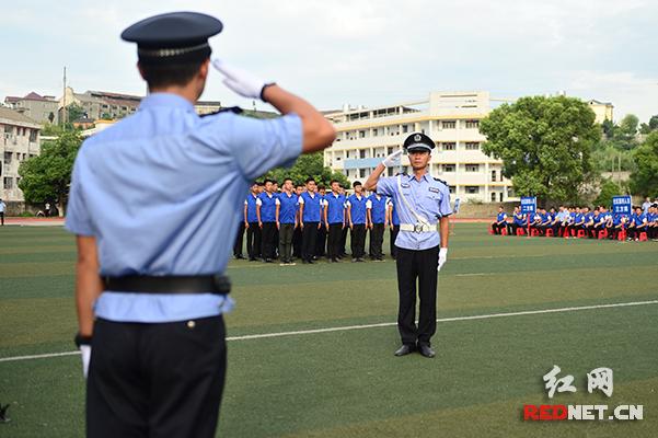 湖南省社区矫正技能比武现场