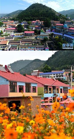 """太行山里的""""彩色村庄"""""""