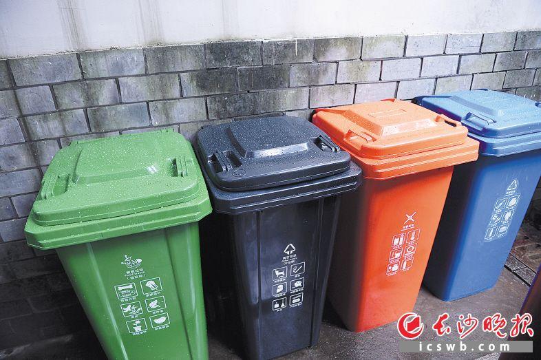 ↑2016年,长沙在10个街道、57个社区启动垃圾分类试点,计划通过5年试点推广,2020年至2025年在全市范围内实施生活垃圾分类回收处置。邹麟 摄