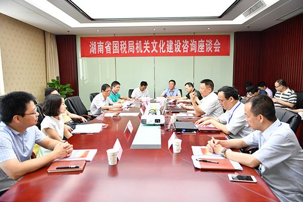 湖南省国税局举行机关文化建设咨询座谈会