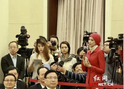 迪拜中阿卫视报道十九大湖南代表团开放日情况
