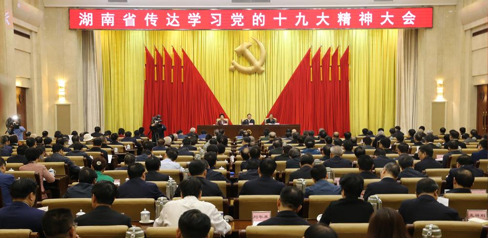 湖南省委召开会议传达学习党的十九大精神