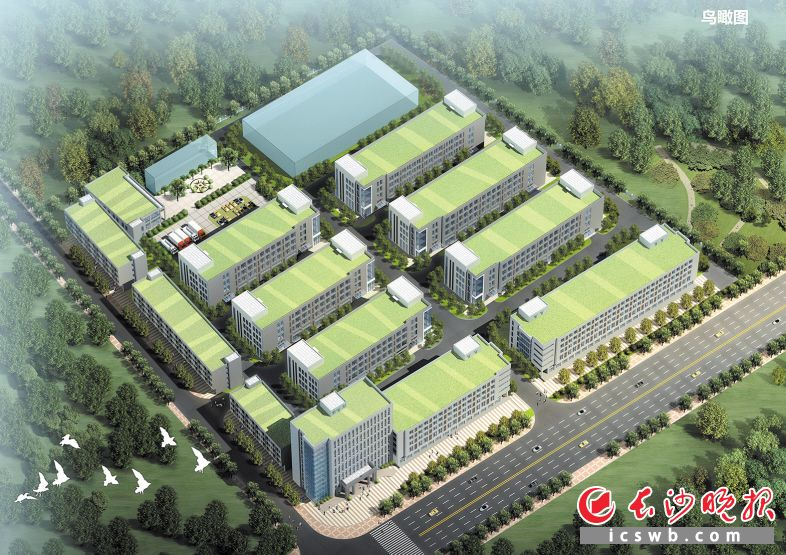 ↑TDK新科电子望城智能制造产业园鸟瞰图。