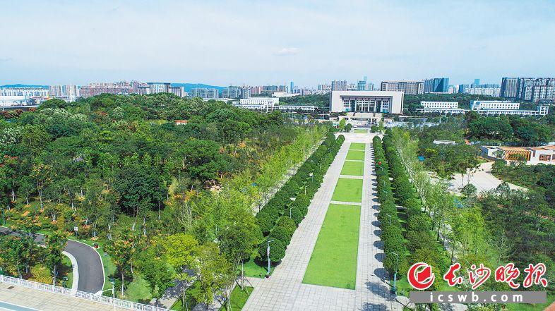 湘府文化公园建成开放,周边居民多了个散步游玩的好去处,老百姓家门口的城市品质全面提升。邹麟 摄