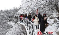 Spring Snowfall in Wulingyuan Zhangjiajie