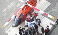 400公里75分钟 直升机转运脑出血患者