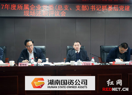 湖南国资公司召开基层党建现场述职评议会