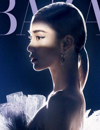 Angelababy杂志大片曝光 穿梭光影演绎摩登气质