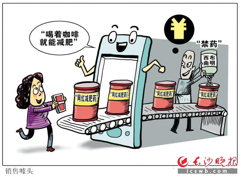 提醒的网红减肥药违禁监管升级漫画b5原稿纸图片