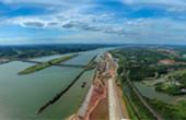 株洲航电枢纽二线船闸及鱼道工程主体已基本完工 预计10月通航