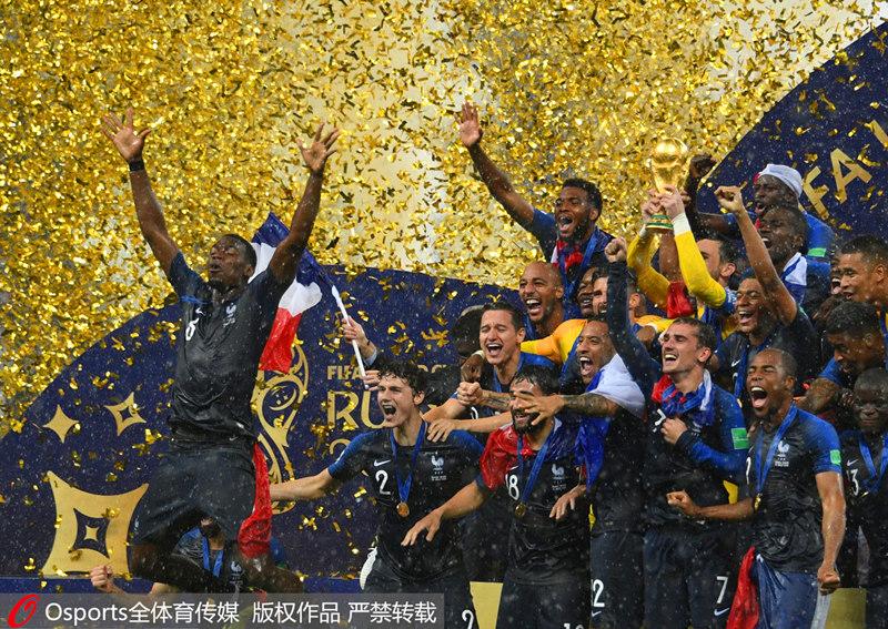 法国夺世界杯冠军 莫德里奇金球奖姆巴佩最佳新人