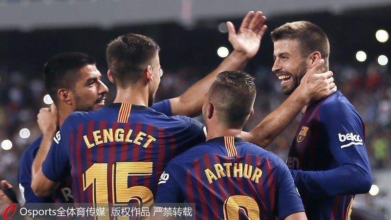 西超杯巴萨2-1塞维利亚夺冠 梅西获个人第33冠