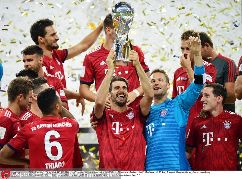拜仁慕尼黑5-0法兰克福 豪取德国超级杯三连冠