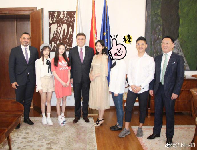SNH48赴克罗地亚拍摄MV 李艺彤受邀参观克罗地亚商会