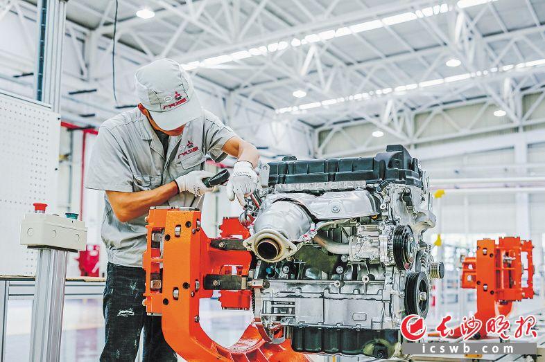 湖南首款自产汽车发动机即将量产