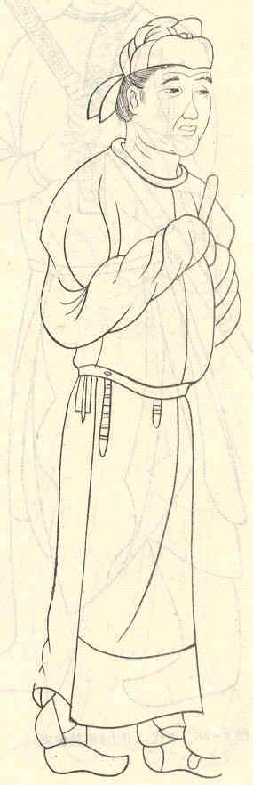 古装男子手绘服装