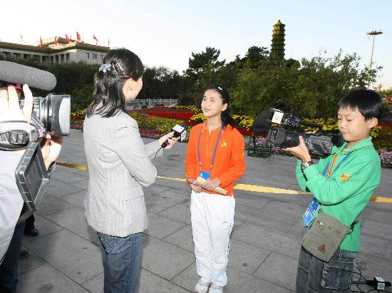 图文:大会上的小记者