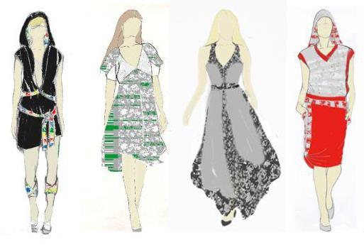 模特服装设计手稿