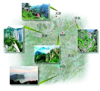 庐山风景区分布图