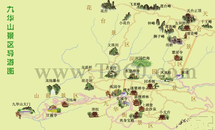 九华山旅游地图_旅游频道