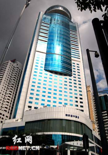 深圳彭年酒店,五颗星,是深圳楼层最高、客房最多的酒店。