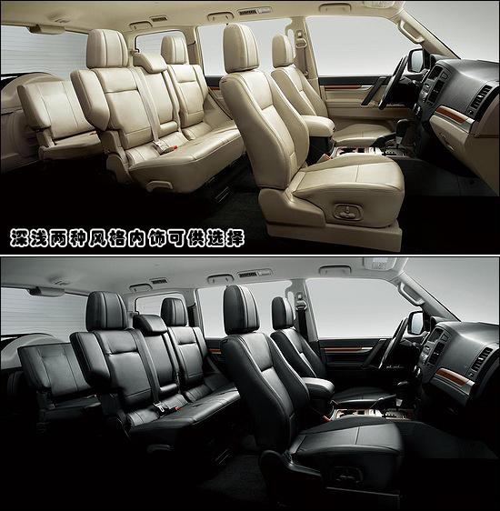 第4代帕杰罗沿用老车型的底盘、发动机及变速箱等基本部分,高清图片