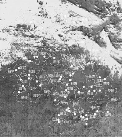 省气象卫星遥感高温点监测发现全省有61个森林火点,省森林防火指挥部